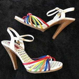 Betseyville Betsey Johnson Rainbow Bright Heels 8